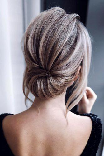 pinterest wedding hairstyles elegant low updo for short hair tonyastylist