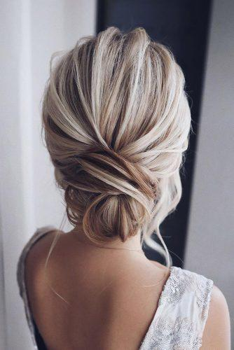 pinterest wedding hairstyles elegant textured chignon on blonde hair tonyastylist