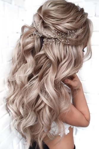 pinterest wedding hairstyles long blonde half up loose curls mpobedinskaya