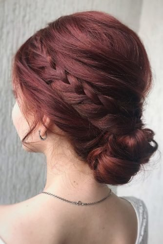 pinterest wedding hairstyles low updo with side braids julia_alesionok