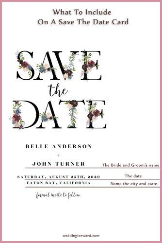 Save The Date Wording: Etiquette Tips And Examples | Wedding