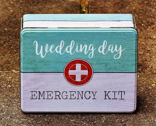 wedding day emergency kit box with essentials