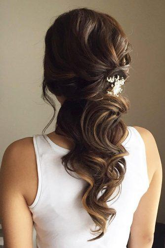 wedding hair half up half down elegant curls suzie kim bridal hair via instagram