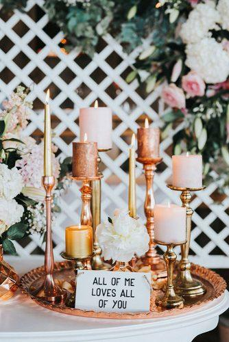 2019 wedding trends from pinterest metallic golden candlesticks vicky baumann