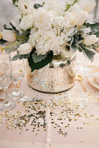 2019 wedding trends from pinterest metallic vase with white flowers brooke schultz photography