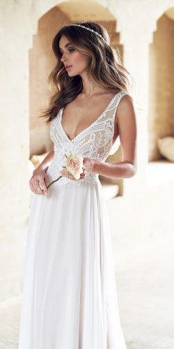 anna campbell v neckline lace with straps wedding dresses with summer skirt jamie