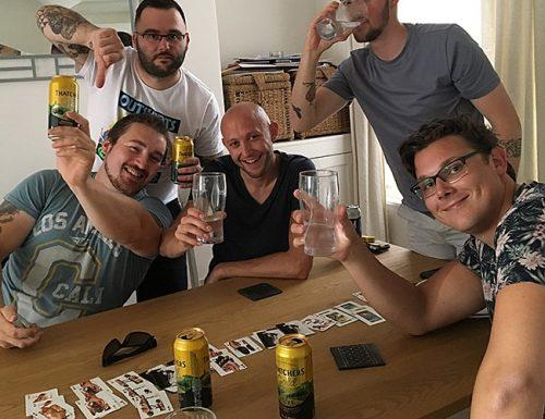 bachelor party ideas friends play drinking games
