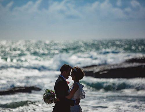 best places to elope ocean beautiful couple