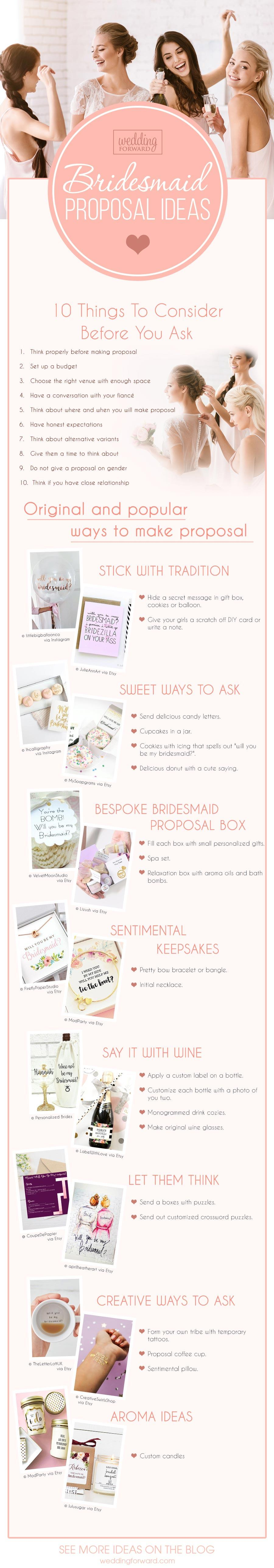 bridesmaid proposal ideas infographics