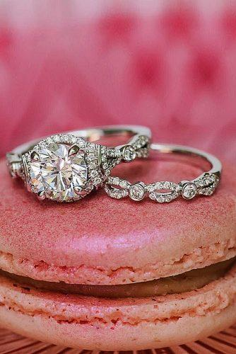 cheap engagement rings round cut set vintage
