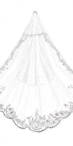 meghan markle illustrations wedding dresses backless bridal veil simple a line givenchy official