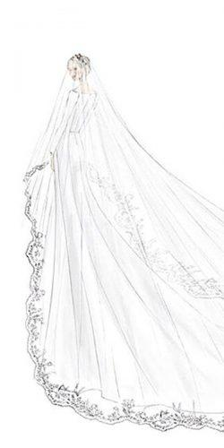meghan markle wedding dresses a line simple long sleeves bridal illustrations royal gown givenchy official