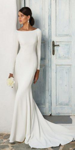 meghan markle wedding dresses sheath simple bateau neckline long sleeve with train justin alexander