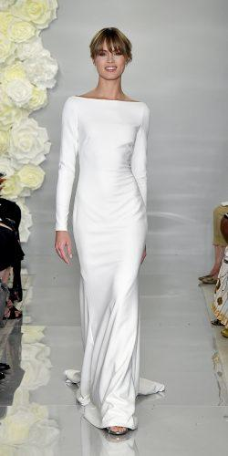 meghan markle wedding dresses sheath with long sleeeves simple theia couture