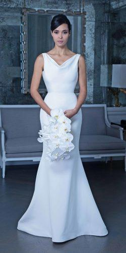 meghan markle wedding dresses simple trumpet sleeveless romona keveza