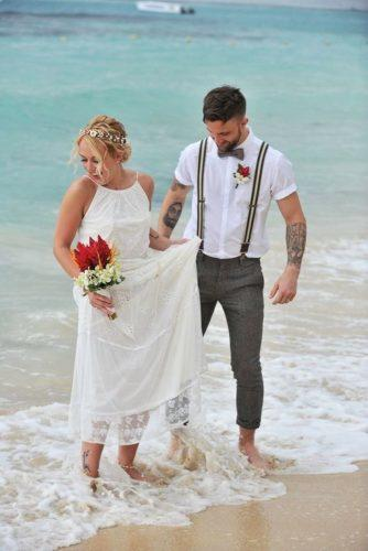 mens wedding attire beach with suspenders tie nhiyakaye photography