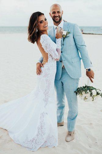 mens wedding attire blue jacket for beach pninatornai