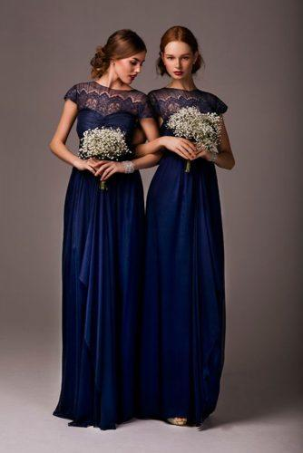 victorian bridesmaid dresses long with cape sleeves lace for wedding