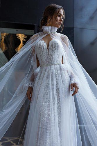 victorian wedding dresses a line sweetheart deep v neckline lace with cape