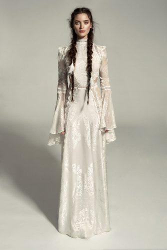 victorian wedding dresses with long sleeves high neck lace meital