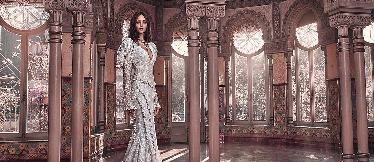 victorian wedding dresses with long sleeves v neckline lace galia lahav