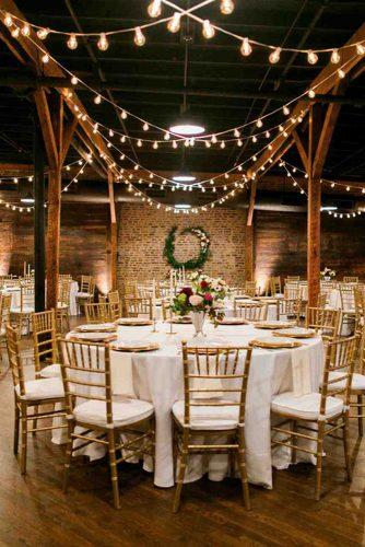 wedding loft décor reception with light bulbs amy nicole photo