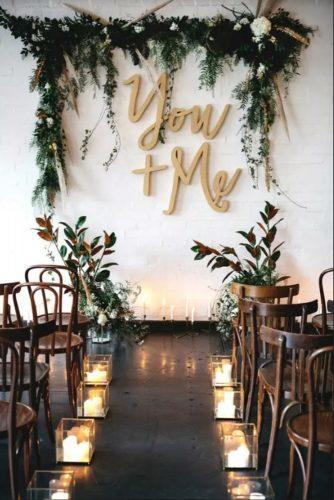 wedding-loft-decor-letters-and-flowers-on-the-wall-megan-robinson-photo