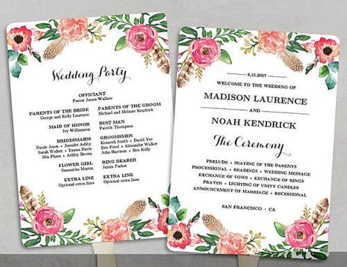 wedding program sample - Monza berglauf-verband com