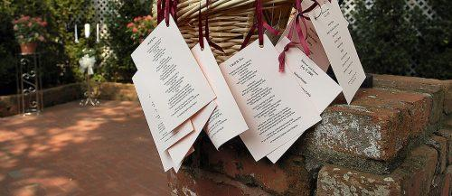 wedding program wording style design