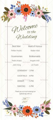 Wedding Program Card Free template