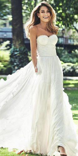 a line strapless sweetheart neckline simple pronovias wedding dresses