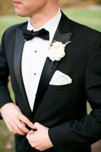 black tuxedo bow tie groom suits ann coen