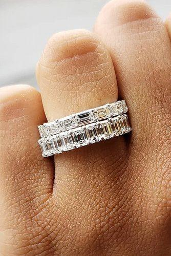 bridal sets stackable rings diamonds white gold