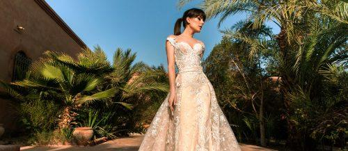 convertible wedding dress featured crystal design
