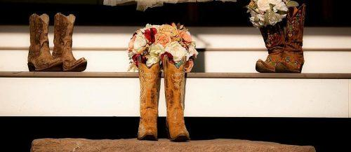 country wedding songs boots bouquet