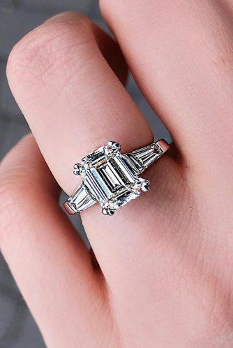 emerald cut engagement rings solitaire wedding set white gold modern
