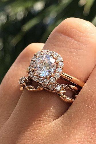 engagement ring inspiration rose gold engagement rings halo set