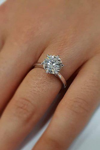 engagement ring inspiration rose gold engagement rings solitaire round cut diamond