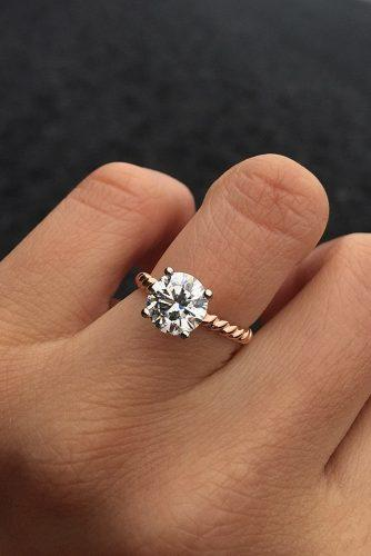 engagement ring inspiration round cut diamond simple engagement rings