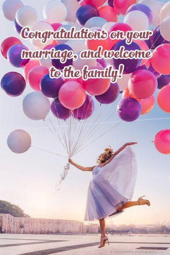 family wedding wishes color baloons