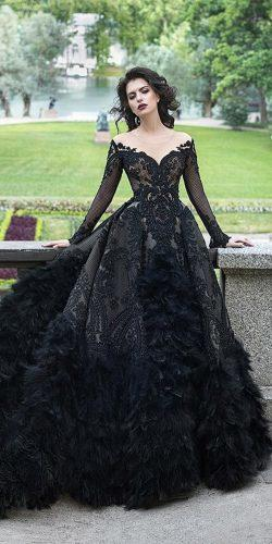 gothic wedding dresses ball gown vintage with sleeves malyarova olga