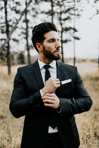 groom suits black tie jacket blakehogge