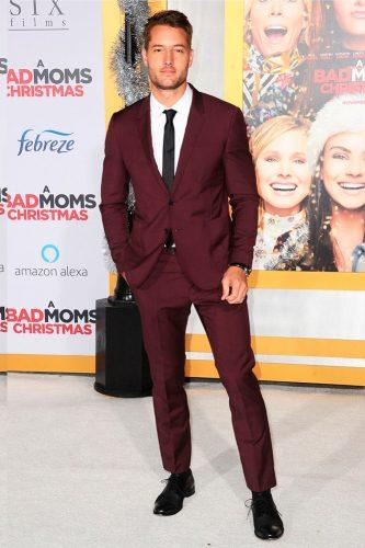 groom suits burgundy attire tie pants and jacket maisonvalentino