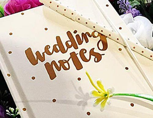 how to plan a wedding notes book