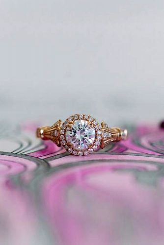 kirk kara engagement rings rose gold engagement rings round diamond engagement rings unique engagement rings kirkkara