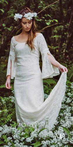 medieval wedding dresses straight open shoulders lace with long sleeves celticfusiondesign