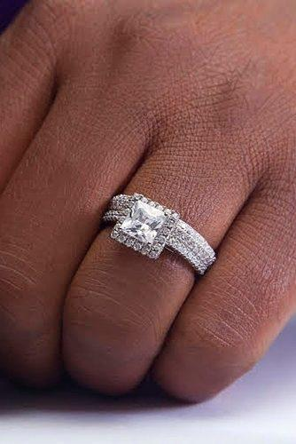 princess cut engagement rings wedding set white gold
