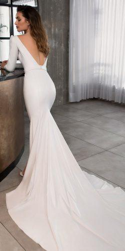 riki dalal wedding dresses 2019 mermaid simple modern low back long sleeve