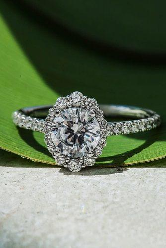 todays top engagement trends floral halo round cut pave band halo