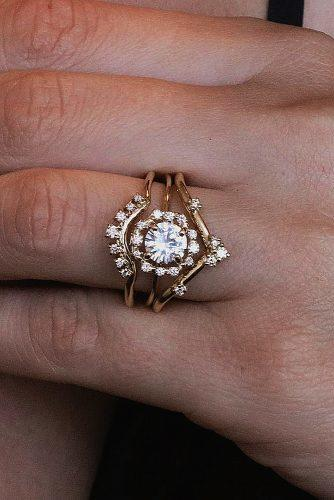 todays top engagement trends rose gold unique bands diamond